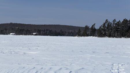 A Frozen Eagle Lake, Sundridge, Ontario, Canada
