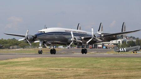 Super Constellation, Farnborough International Airshow, Farnborough Airport, Rushmoor, Hampshire, England