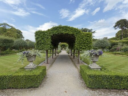 Holker Gardens, Summer Garden, Holker Hall country house near Cartmel, Cumbria, England