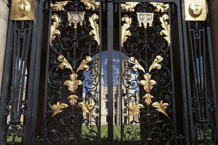 Gate to Codrington Library, Oxford, Oxfordshire, England, United Kingdom Stock Photo