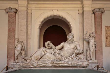 River god (Arno), Octagonal Court, Pio Clementino Museum, Vatican Museums, Vatican City