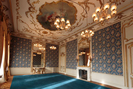 Room in Wrest Park Mansion House, near Silsoe, Bedfordshire, England Editorial