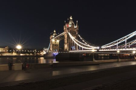 Tower Bridge at night, London, England, United Kingdom