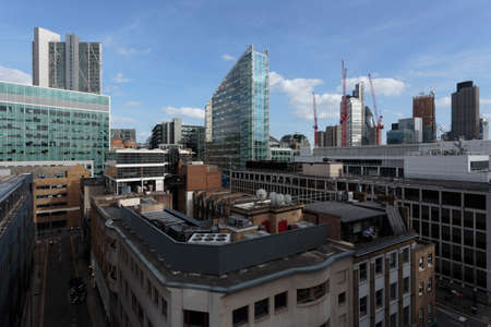 A rooftop view of the City of London