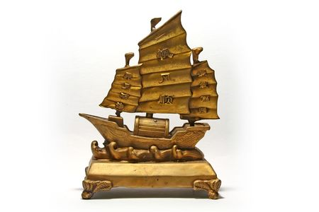 The famous and auspicious feng shui wealth ship.  Immensely popular amongst asian businessmen and anybody looking for profits to sail in.