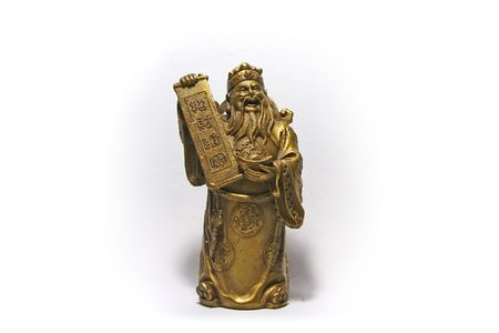 auspicious: Cai Shen, the God of Wealth is found in many business places around Asia, especially in China. Having his presence within the vicinity is said to bring in wealth in many forms to the place it resides. Cai Shin is seen holding a scroll with auspicious char