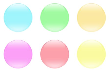 Glass crystal aqua buttons for icons Stock Photo - 2451195