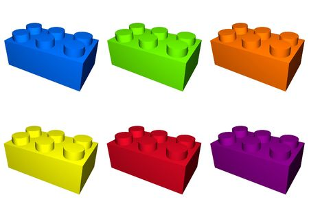 Building play blocks with different colors photo