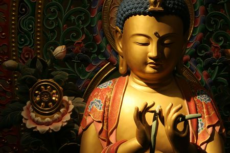 ambient: Buddha in a state of zen with ambient surroundings.