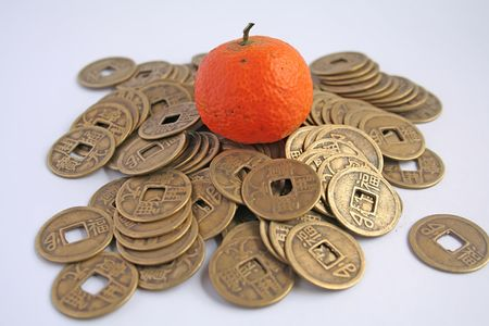 shui: Symbols of prosperity and abundance in feng shui Stock Photo