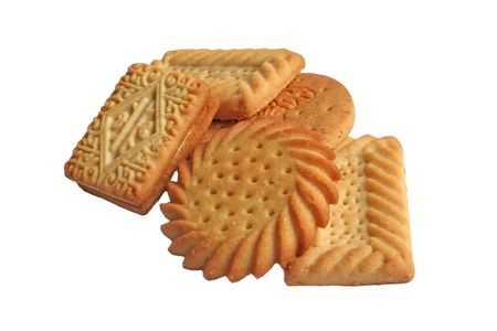 Typical english tea time biscuits Stock Photo - 2523202