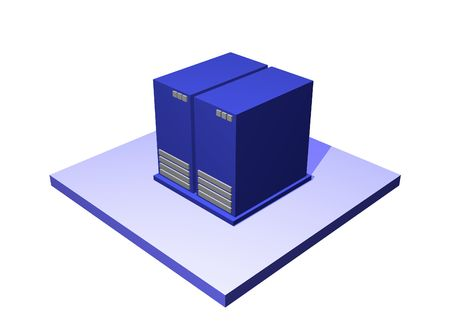 Data Center, a logistics supply chain symbol from a series set Stock Photo - 2545664