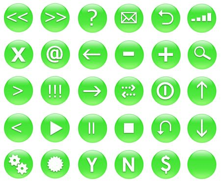 jpg: Icons for web actions in a shiny fun way. Inspired by web 2.0 buttons.
