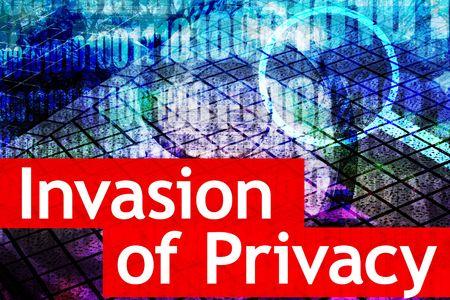 invasion: Invasion de la vie priv�e est un sujet chaud des m�dias en ligne Banque d'images