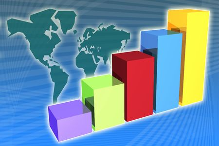 Global Growth in business generic presentation background Stock Photo - 2574406