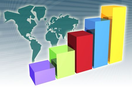 Global market penetration increase in a generic presentation background Stock Photo - 2633530