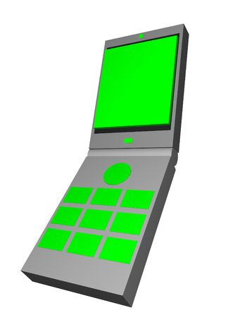 cel: Telecommunication device graphic of a handphone Stock Photo