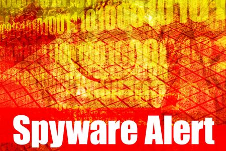 adware: Spyware Alert Warning Message on abstract technology background