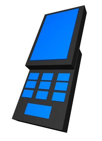A handphone using the popular slide design photo