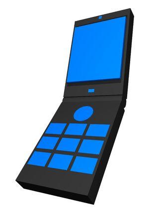 Clamshell handphone clip art photo