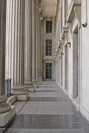 Stone columns from a judicial law building photo