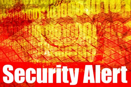Security Alert Warning Message on abstract technology background photo