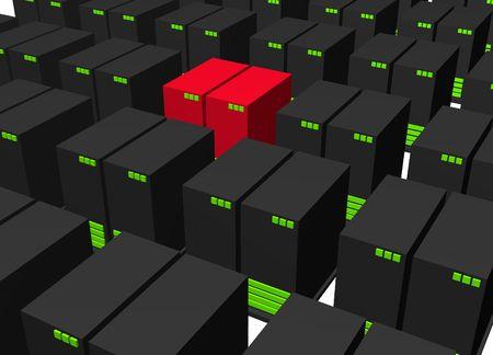 intruder: Infected Virus Intruder Alert Servers Isolated Stock Photo