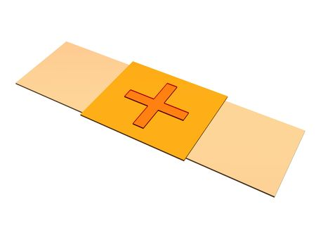 breathable: Bandaid gesso ClipArt isolati su sfondo bianco