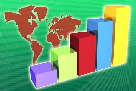 world market: World market economy growth and increase to be used for presentation backgrounds