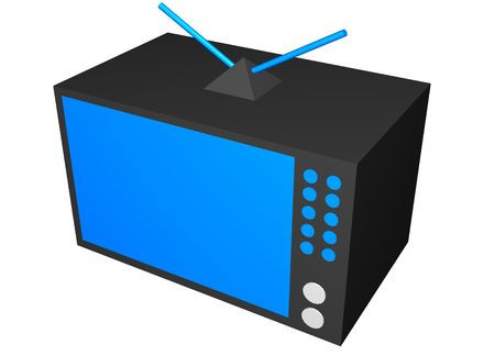 crt: Home Appliance Clip Art TV in a cute cartoony style Stock Photo