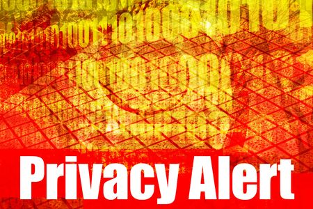 Privacy Issues Alert Warning Message on abstract technology background photo