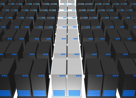 Servers from a Webhosting Company With a White Background Stock Photo - 2706482