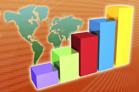 Financial global forecast to be used as a business background Stock Photo - 2715652