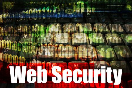 warned: Online Web Security message on a tech abstract background