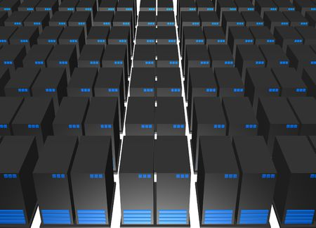 webhosting: Data Storage Centre in the Internet Industry with a white background