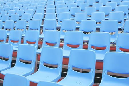 bleachers: Concert Bleachers with no fans arriving yet