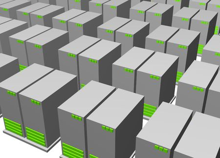 warehousing: Server Clusters For Data Warehousing Clip Art Isolated