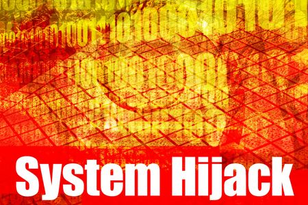 hijacked: System Hijack Alert Warning Message on abstract technology background