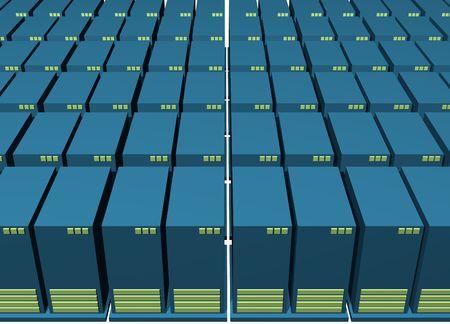 warehousing: Data Backup Warehousing Environment With a White Background