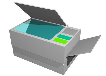 photocopier: Photocopier Printer Fax Machine Isolated on a white background Stock Photo