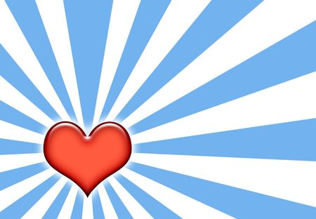 corazon: Corazon Sunburst Abstract Wallpaper on blue and White Stock Photo