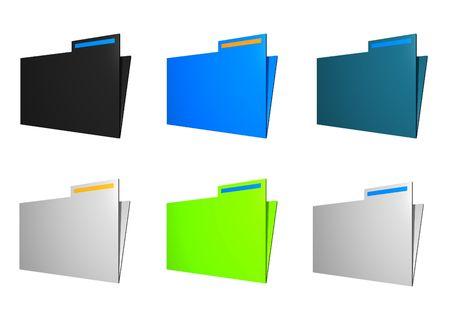 Folder Icons Isolated on a White Background Stock Photo - 2925541