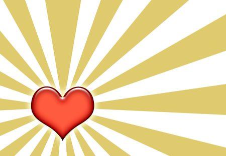 corazon:  Heart Wallpaper Background on Sunburst Brown and White