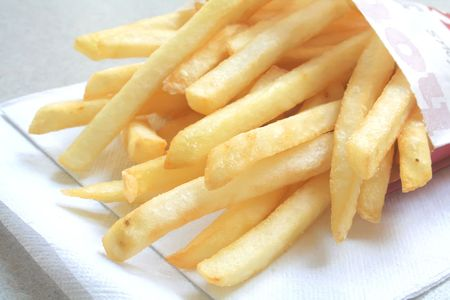 Generic French Fries from a Fastfood Restaurant on a white table Stock Photo - 2942521
