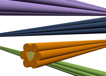 cabling: Data Grid Transfer on the Internet Isolated on white background Stock Photo