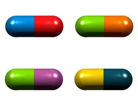 anti: Anti Biotics - Medical Icons Isolated on White Background