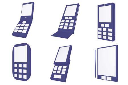 Handphone Designs Icons isolated on white background Stock Photo - 2993353