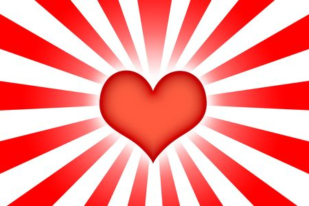 corazon: Heart Shaped Abstract Background Wallpaper in Red