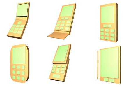 Mobile Phone Designs Type Icons Set isolated on white background photo