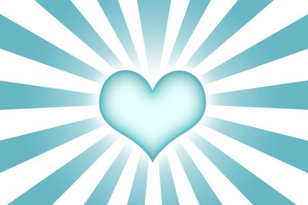 corazon: Heart Shaped Abstract Background Wallpaper in Blue Stock Photo